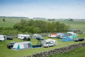 campsite at knotlow farm