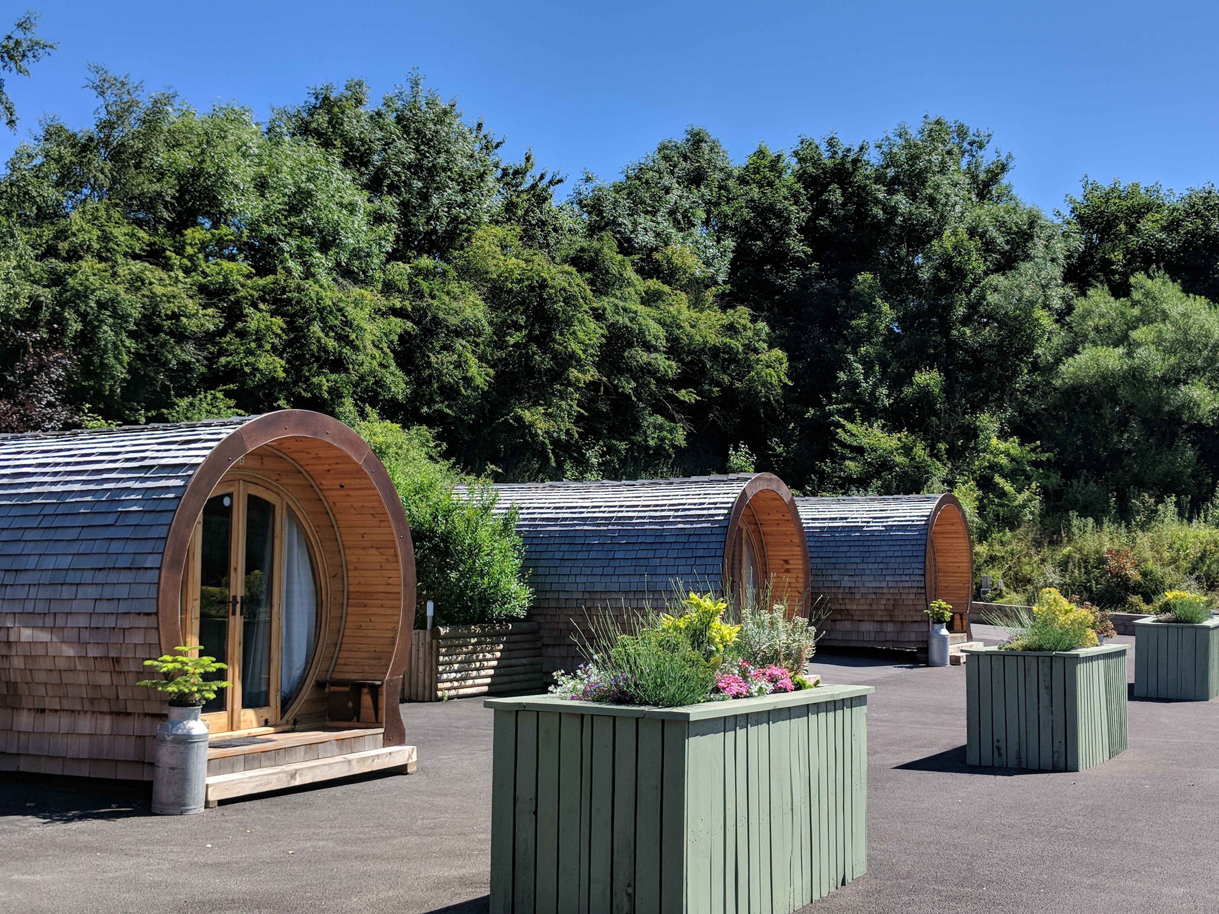 Camping pods in the Peak District. Camping pods with hot tubs.